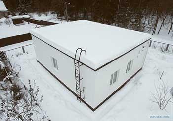 Плоская крыша фото