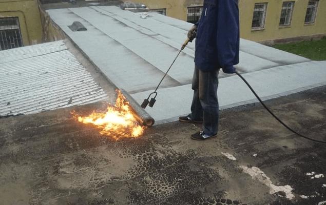Ремонт плоской крыши «по старому покрытию»